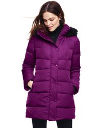 Lands' End - Purple Refined Down Coat - Lyst