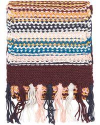 Dorothy Perkins - Multi Coloured Meadow Stitch Scarf - Lyst