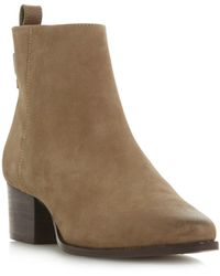 a4c0616f2f8 Dune Pollie Leather Western Style Mid Heel Ankle Boots in Blue - Lyst
