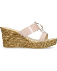 e91a74d4643 Carvela Kurt Geiger - Pink  stevie  Patent Wedge Sandals - Lyst