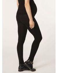 Dorothy Perkins - Maternity Long Black Overbump Leggings - Lyst