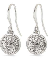 Pilgrim Plated 'heather' Crystal Drop Earrings - Metallic