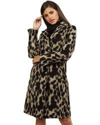 James Lakeland - Beige 3 Button Leopard Coat - Lyst