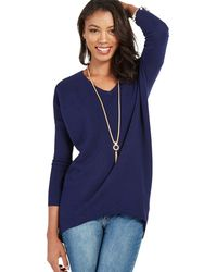 Apricot - Navy Ribbed Oversized Jumper - Lyst
