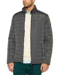 Racing Green - Big And Tall Dark Grey Quilted Jacket - Lyst