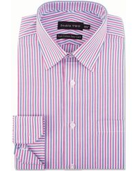 Double Two - Pink Vertical Stripe Formal Shirt - Lyst