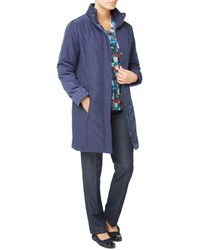 Eastex - Chevron Padded Coat - Lyst