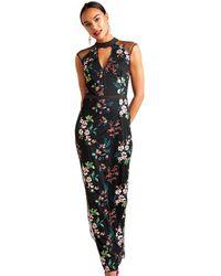 Yumi' - Oriental Embroidered Maxi Dress - Lyst