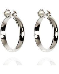Anne Klein - Silver Tone Large Hoop Earrings - Lyst