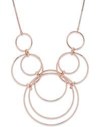 Pilgrim Gold Plated 'freya' Circular Pendant Necklace - Metallic