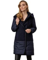 James Lakeland - Mix Panel Puffer Coat - Lyst