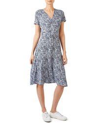 Dash - Geo Palm Jersey Wrap Dress - Lyst