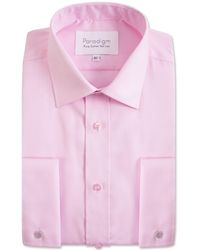 Double Two - Big And Tall Light Pink Double Cuff Cotton Shirt - Lyst