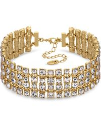 Lipsy - Crystal Statement Necklace - Lyst