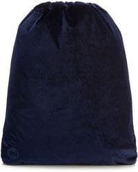 Mi-Pac - Blue Velvet Drawstring Backpack - Lyst