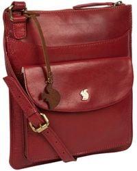 Conkca London - Chilli Pepper 'lauryn' Handcrafted Leather Cross-body Bag - Lyst