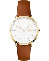 Lacoste - Ladies Brown Strap Watch - Lyst