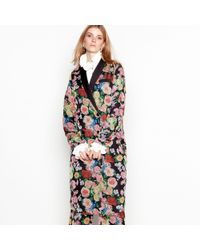 Y.A.S - Multi-coloured Floral Print Double Breasted Kimono Jacket - Lyst