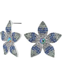 Red Herring - Blue Ombre Large Flower Stud Earring - Lyst