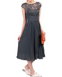 Jolie Moi - Lace Bodice Pleated Dress - Lyst