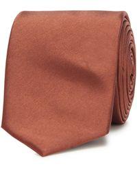 Red Herring Orange Slim Tie