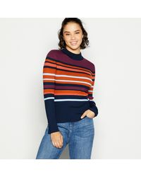 Red Herring Striped Ribbed Jumper - Blue