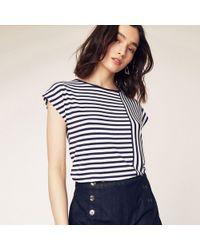 Oasis - Multi Blue Spliced Stripe T-shirts - Lyst