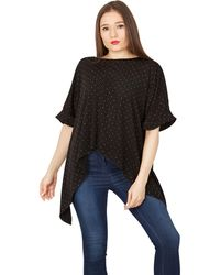 Feverfish - Black Asymmetric Knitted Top - Lyst