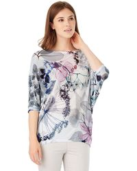 Phase Eight - Delicate Floral Becca Batwing Jumper - Lyst