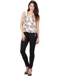 Izabel London - White Floral Print Wrap Top - Lyst
