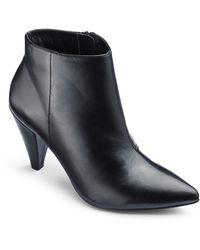 e44e2746da0 'lillibet' Cone Heel Wide Fit Ankle Boots - Black