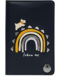 Radley - Navy Leather 'follow Me' Small Card Holder - Lyst