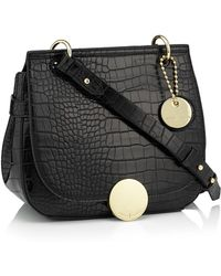 44d14dbd4435 J By Jasper Conran - Black Faux Leather Croc Effect 'greenwich' Cross Body  Bag