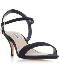 Dune - Navy Suede 'monnrow' Ankle Strap Sandals - Lyst