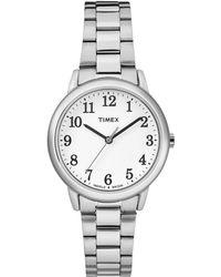 Timex - Ladies Silver 'easy Reader' Analogue Bracelet Watch Tw2r23700 - Lyst