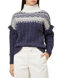 1ef8e4c385c Joules Cleo Cable Knit Jumper in Orange - Lyst