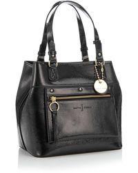 J By Jasper Conran Faux Patent 'cannes' Grab Bag - Black