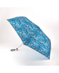 Cath Kidston Blue Printed 'minilite 2' Botanical Garden Wind Resistant Umbrella