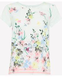 Ted Baker Light Green Floral Print 'pergola' Pyjama Top