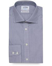Tm Lewin - Blue Stripe Print Long Sleeve Regular Fit Shirt - Lyst