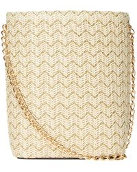 Dorothy Perkins - Neutral Weave Cross Body Bag - Lyst