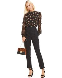 Oasis - Black High Waist Belted Trousers - Lyst