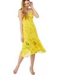 Monsoon - Yellow 'hermosa' Embellished Midi Dress - Lyst