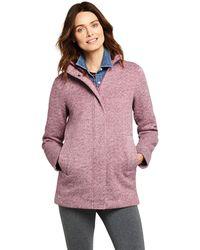 Lands' End Pink Petite Jumper Fleece Coat