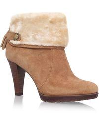 Anne Klein - Brown 'teamy' Hight Heel Ankle Boots - Lyst