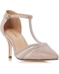 Roland Cartier - Rose 'dennice' Mid Stiletto Heel Ankle Strap Sandals - Lyst