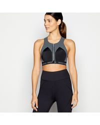 Shock Absorber Dark Grey 'infinity Power' Non-wired Non-padded Sports Bra