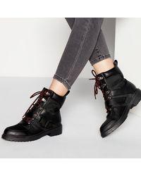 c71bbe78e94 'blip' Lace Up Hiker Boots - Black