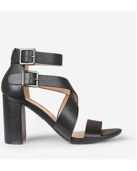4b14e7f0a0 Dorothy Perkins Black 'sarah' Heeled Sandals in Black - Lyst