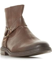 Dune - Brown 'critter' Casual Gaucho Ankle Boots - Lyst